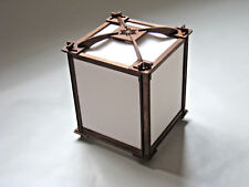 Japanese style lamp shade. small, Plain paper screens, Dark frame