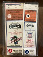 1989 World Series & NL Championship Tickets Game 3 Giants M/NM Earthquake Game