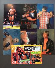 WCW NWO Wrestling Superstars 6 Photocards Goldberg Rowdy Roddy Piper Hogan RARE