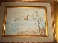 Pair of mid-century paintings (50's) oil on artist borad, estate