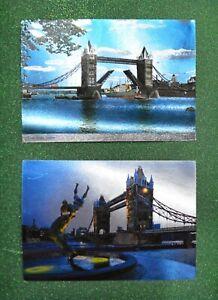 "Vintage 2 Unposted ""LONDON"" Postcards Kardorama * Printed in Great Britain"