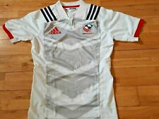 USA Rugby Maillot Jersey adidas Blanc Taille M Neuf