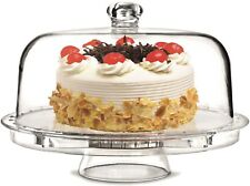 Rammento Multifunctional 5 in 1 Cake Stand And Dome Cake Dome Salad Punch Bowl