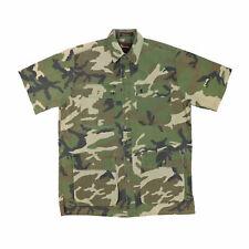 """VTG Browning Men Large 48"""" Short Sleeve Camouflage Shirt Super Natural Cotton"""