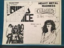 BLIND JUSTICE~ORIG 1984 CONCERT FLYER at CLANCEY'S TEMPE, ARIZONA~HEAVY METAL
