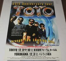 TOTO Japan PROMO ONLY 2002 TOUR POSTER official RARE Steve Lukather MORE LISTED!