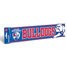 AFL WESTERN BULLDOGS Jumbo CAR STICKER - Sign Man Cave Football Bumper Sticker