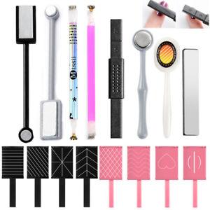 Cat Eye Nail Magnet Stick Flower Stripe For Magnetic UV Gel Polish Tool Set Kit