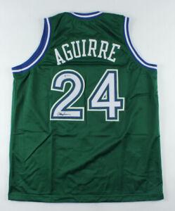 Mark Aguirre Signed Dallas Mavericks Jersey (PSA COA) 2xNBA Champ / Depaul Star