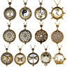 Vintage Chain 5X Magnifying Glass Reading Sweater Necklace Magnifier Pendant