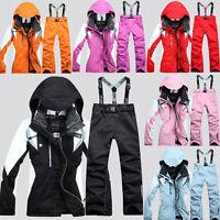 Ski Jacket Pants Ski Suit Water Repellent Women Coat Winter Snow Windproof S-2XL