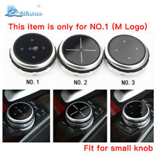 Silver Replacement Small Multimedia Knob Cover IDRIVE Button for BMW F10 F20 F30