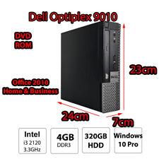 Dell Optiplex i3 2120 4GB 320GB Win10 Micro PC Desktop Office Computer TV Box