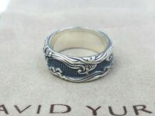 David Yurman Men's Waves Band Ring in Sterling Silver, Size 9.5