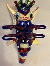 New Slavic Treasures Glass Orn - Soaring Colors (Way Out Bugs) Patriotic 2002