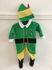 Baby Boy Buddy The Elf Christmas Outfit & Hat Age 3-6 Months Fancy Dress Up