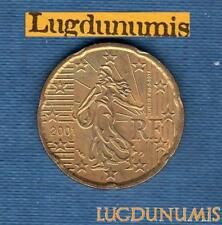 France 2001 20 centimes d'euro SUP SPL Pièce neuve de rouleau