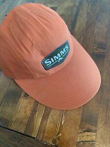 NWT Simms Fishing Double Haul Cap, Simms Orange Color OSFA Long Bill Fishing Hat