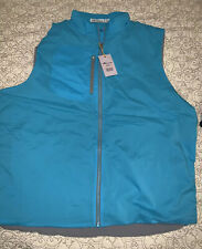 Peter Millar Blue Insulated Vest Crown Sport Stretch Lightweight, Lg, NWT $115