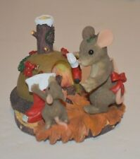 Charming Tails The Stockings Were Hung.Chimney Figurine Fitz and Floyd 87/110