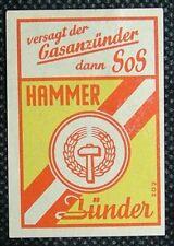 Matchbox label Hammer Zunder Dutch Germany Austrian ML369