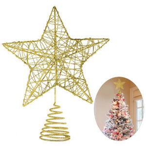 UNOMOR Topper Cime d'étoile à Cinq Points Ornements d'Arbre de Noël de Maison
