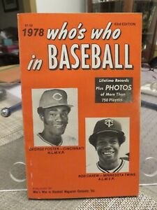 WHO'S WHO IN BASEBALL 1978 (George Foster & Rod Carew on the cover)
