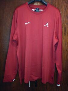 Nike Dri-Fit Alabama Crimson Tide L/S Pullover Fleece Men's 2XL CQ5032 698 NEW