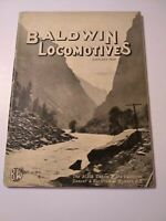 Baldwin Locomotives Magazine January 1928 Vintage Railroad