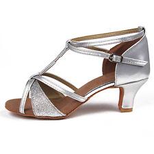 ladies women girls'Salsa tango latin dance shoes 4-color heeled dancing shoes255