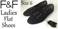 Ladies Flat Shoes Black Size6 New With Tags FREE DELIVERY