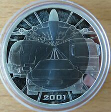Österreich 100 Schilling 2001, Mobilität, Silber-Titan-Münze, polierte Platte