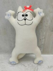Simon's cat in the car on suction cups, handmade soft toy.