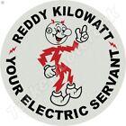 REDDY KILOWATT 11.75in ROUND METAL SIGN