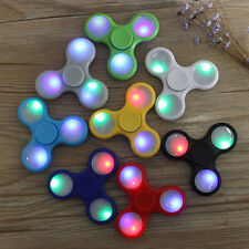 3PK LED Various Color Tri-Spinner Fidget Toy EDC Hand Finger Spinner Desk Focus