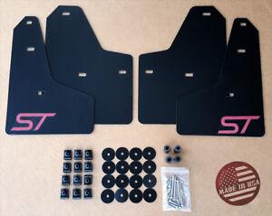 StreetRays 2011-2018 Ford FOCUS ST SE Mud Guard Flaps Set BLACK w/ Hardware Kit