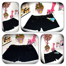 "NWT-DAZZLING BUBBLE GUM BLACK SHORTS! (WAIST 14"")"