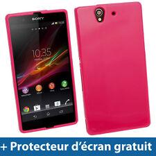 Rose Étui Housse Case Cover TPU Brilliant pour Sony Xperia Z Android Smartphone