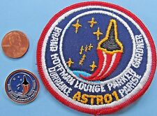 """NASA 3"""" PATCH & PIN PAIR vtg Space Shuttle COLUMBIA STS-35 ASTRO-1 Gardner"""