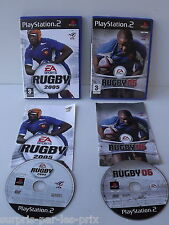 Set di 2 GIOCHI RUGBY 2005 ET 2006 Playstation 2 - PS2