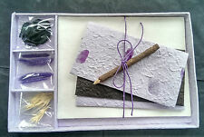 Exquisite Gift Letter/Writing Stationery Set/Handmade Mulberry Paper/Lilac