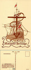 1982 MARITIME HERITAGE LIMITED EDITION MINT POSTCARD BY VELDALE