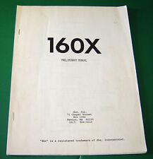 Original DBX 160X Preliminary Manual
