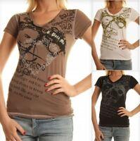 T-Shirt Maglietta Donna MM&I-Gruppo Einstein A075 Bianco Nero Marrone Tg M L