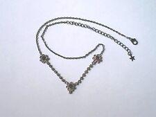 Pretty Fashion Choker Necklace, Purple Flower Diamantes,  Used  Unbranded