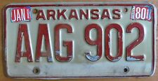 Arkansas 1980 LOW NUMBER License Plate # AAG 902