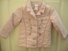 NEW Nannette Girl Pink Suede floral Coat Winter Jacket Girl Sz 4