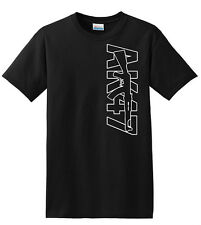 all new AK-47 T-Shirt  Out Line Logo Rifle Gun Size S to 5XL 100% cotton