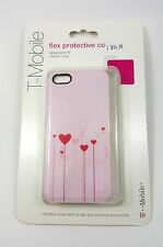 Cover For iPhone 5 5S & SE T-mobile Red Pink Heart TPU Case Soft