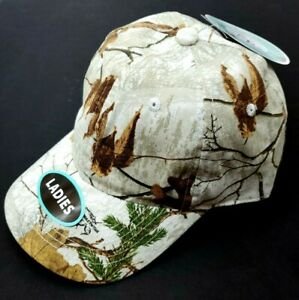 Ladies Baseball Style Hat,  Realtree Hunting Unstructured  Xtra Snow, Adjustable